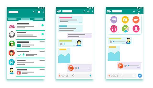 estrutura do aplicativo mobile WhatsApp
