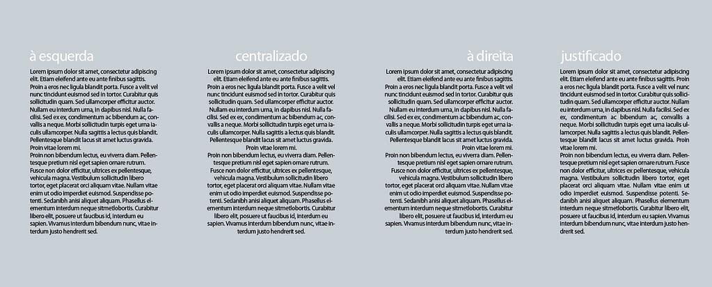 Design editorial alinhamentos